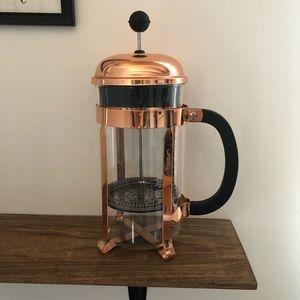 Bodum Copper Rose Gold Coffee French Press